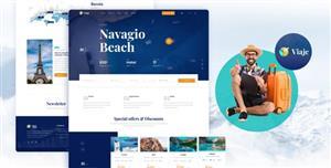 响应的旅游预订网站HTML模板