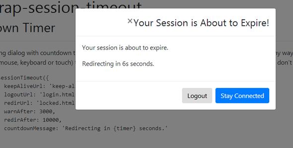 bootstrap-session-timeout会话超时插件