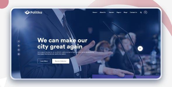 响应式政治和选举活动HTML5模板