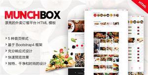 大气HTML5外卖订餐平台网页前端模板