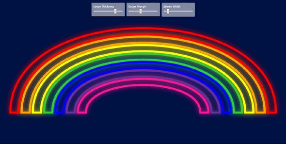 react自定义彩虹样式特效