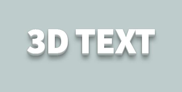 3d文本样式css特效代码