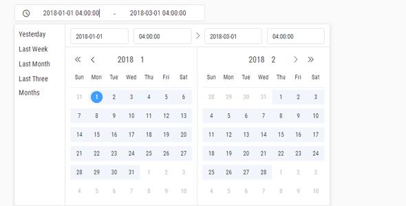 时间和日期选择日历插件datepicker.js