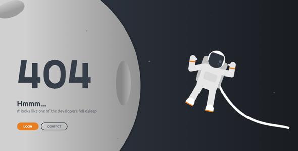 太空宇航员404页面