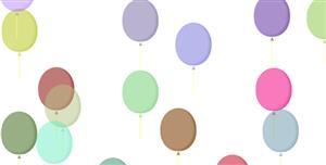 js+css3气球上升动画特效
