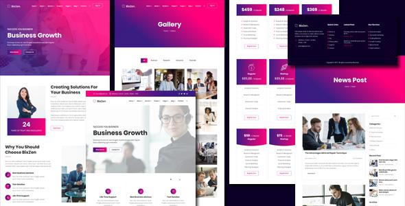 紫色时尚公司业务网站HTML模板