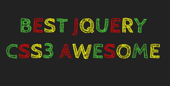 CSS3实现彩色粉笔字特效代码