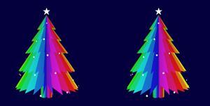 js旋转的圣诞树特效