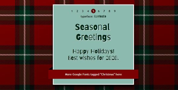 9种圣诞字体tabs选择