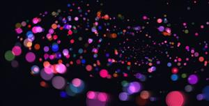 canvas五彩斑斓的粒子动画特效