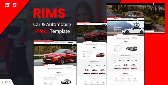 红色汽车服务电子商务网站bootstrap模板源码下载