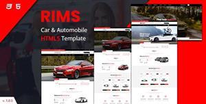 红色汽车服务电子商务网站bootstrap模板