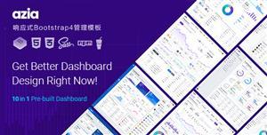 水平导航响应式Bootstrap4管理模板