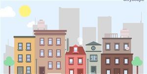 css3城市空间场景动画背景