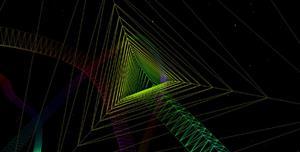 Canvas三维菱形隧道动画特效