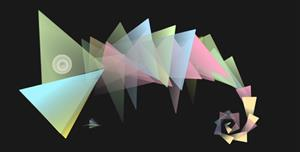 SVG+TweenMax.js+jQuery三角形特效光标飞