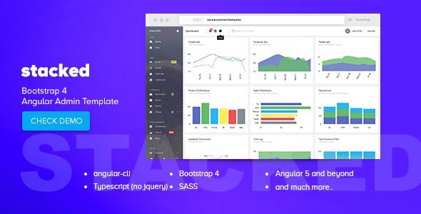 Bootstrap4 Angular后台管理系统HTML模板