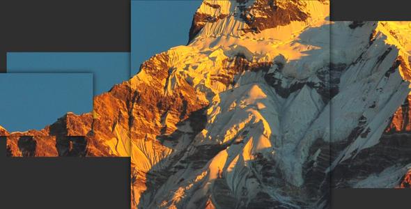 很酷的css3山峰图片背景视差动画