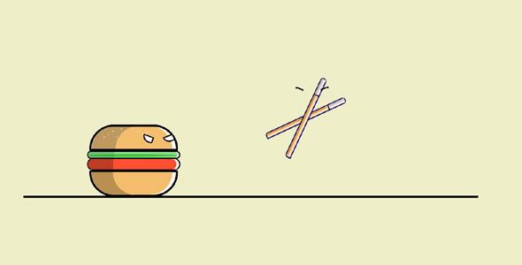 CSS3汉堡vs筷子动画