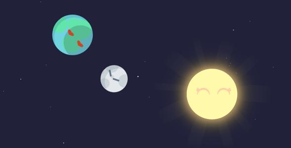 js css3太阳行星运动阴影特效