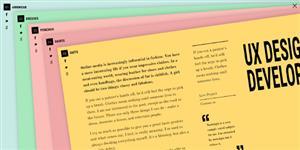 炫酷jQuery CSS3层叠多张纸展开动画特效