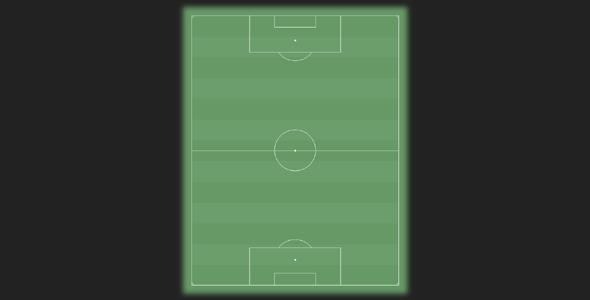 纯css3绘制足球场样式代码