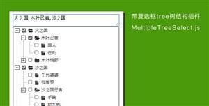 带复选框tree树结构插件MultipleTreeSelect.js