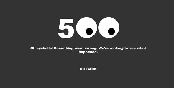 创意500错误页面代码眼睛跟随鼠标