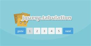 bootstrap jQuery分页插件jquery.tabulation.js
