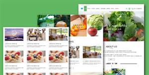 bootstrap蔬菜水果农产品html模板