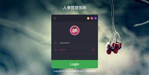 jQuery人事管理系统登录页面代码