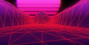 js音乐合成器波浪Synthwave特效