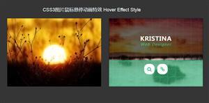 CSS3鼠标悬停图片遮罩动画特效
