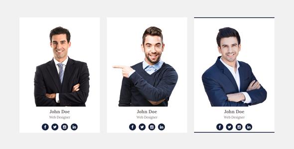 8种bootstrap团队会员头像样式代码