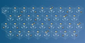 3d立方体数字样式布局