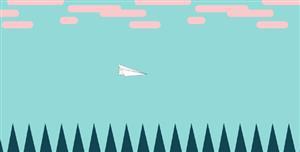 svg实现纸飞机自由的飞翔动画