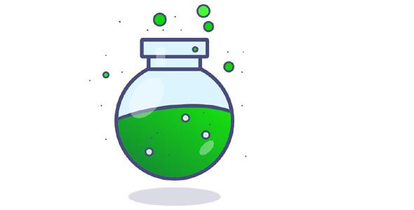 css3实现绿色药水瓶代码特效