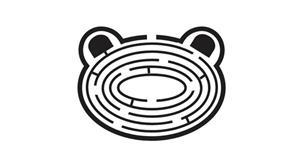 纯css3动物头样式的迷宫代码
