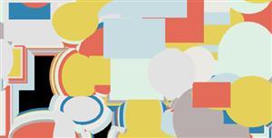 简单的p5网页形状闪烁动画