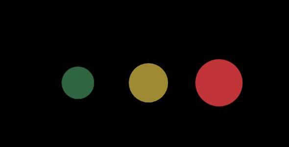 动态的三色圆球loading动画