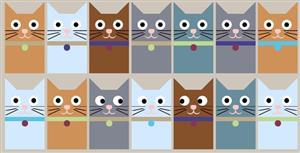 react.js实现很多喵眼睛跟着鼠标