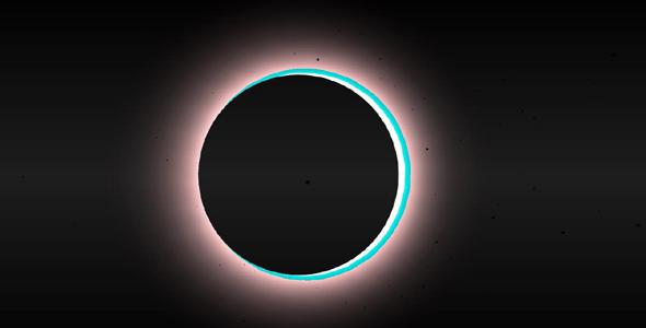 three.js黑色发光行星h5特效