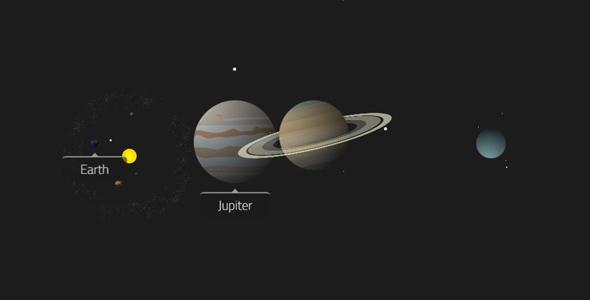 纯css3实现的太阳系带动画特效