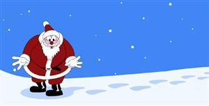 创意svg圣诞节圣诞老人动画效果