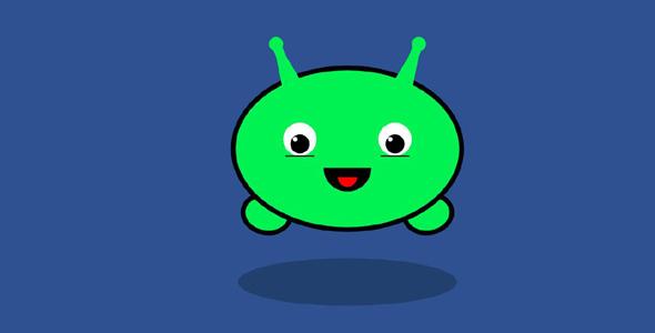 简单svg+js绿色小怪兽