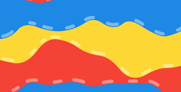 基于canvas的彩色液体动态特效