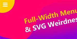 SVG左上角全屏菜单动画效果展开