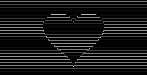 canvas线条爱心动态网页背景