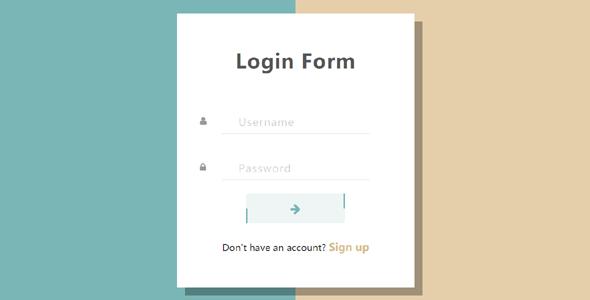 Bootstrap实现简约创意登录框页面设计