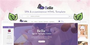 精美Spa养生馆电商网站HTML模板